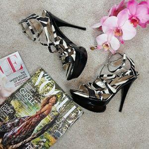 BEBE Animal Print Heels